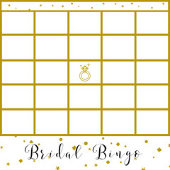 Bridal Bingo  Gold