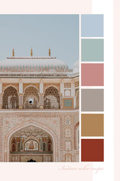 Indian Pinterest color mood board  Architecture