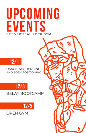 Orange Modern Event Calendar  Calendrier