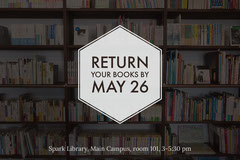 Library Return Your Books Flyer Education