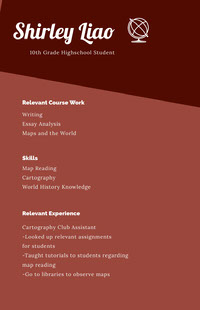 Claret and White Professional Resume CV