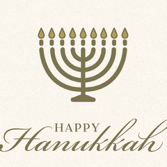 Gold and White Happy Hanukkah Instagram Post with Menorah Hannukkah