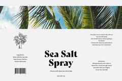 White Sea Salt Spray Landscape Label  Hair Salon