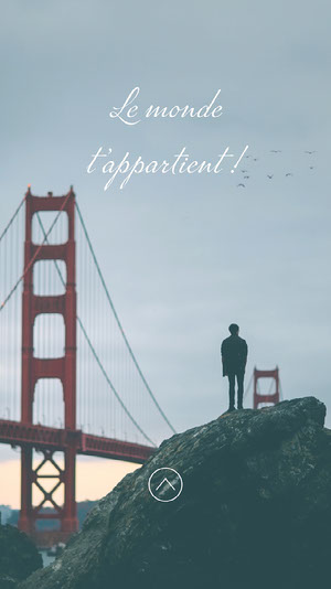 Grey Bridge World Is Yours Instagram Story  Affiche de motivation
