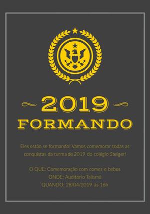 graduation announcements  Cartão de graduação
