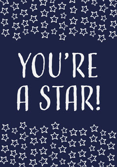 You're A Star Card Gift Card
