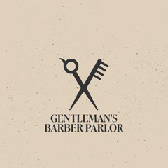 Rustic Barber Parlor Logo Square Barber