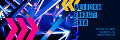 Blue Web Design Graduate Show - Web Banner Shows