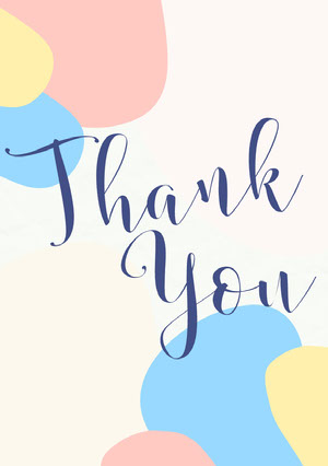 You Baby Shower Thank You Card