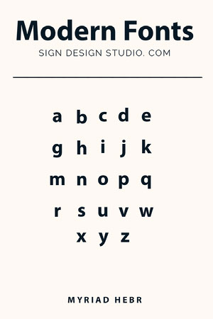 Black and White Typography Font Pinterest Ad 50 Modern Fonts