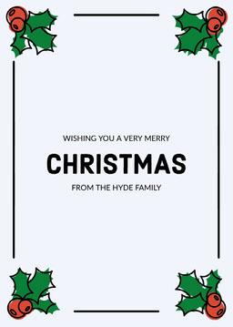 Holly Border Merry Christmas card jeff-test-5