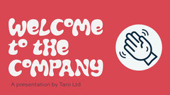 Red Welcome To The Company Presentation Welcome Poster