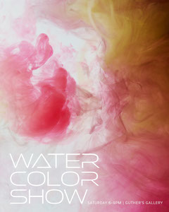 Pink, Yellow and White Subtele Water Color Show Instagram Portrait Art Show