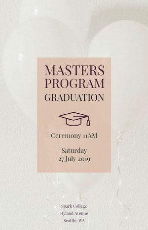 Masters Program Tarjeta de graduación