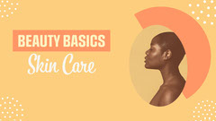 Orange Beauty Basics Skin Care YouTube Thumbnail Beauty