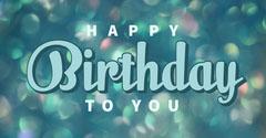 Blue Happy Birthday Facebook Post Friends