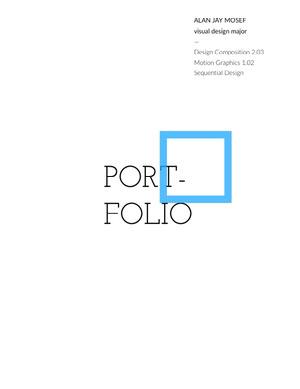 Blue and White Geometric Graphic Designer Portfolio Cover Online-Portoflio