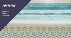 Twitch Banner with Beach at Sunset Wave