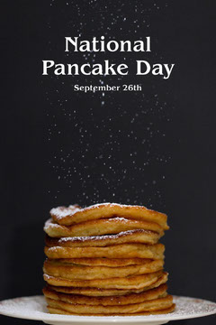 yellow black national pancake day pinterest  Breakfast