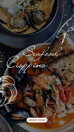 seafood cioppino recipe instagram story Story