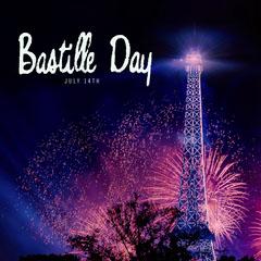 Purple Fireworks Bastille Day Instagram Square  Fireworks