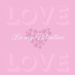 White and Purple Valentines day Instagram Square Love