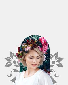 Floral Crown Happy Birthday Gemma Card Flowers