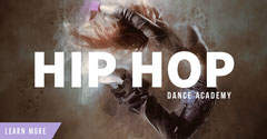 White and Beige Dance Academy Ad Facebook Banner Hip Hop Flyer