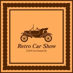 Brown and Orange Retro Car Show Instagram Square Graphic Car Show