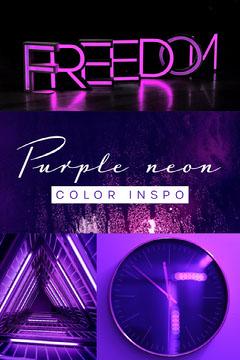 purple neon color inspo Pinterest  Neon