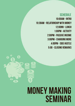 Money making seminar Seminar Flyer
