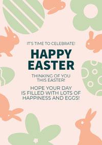 HAPPY EASTER Criador de cartões de Páscoa