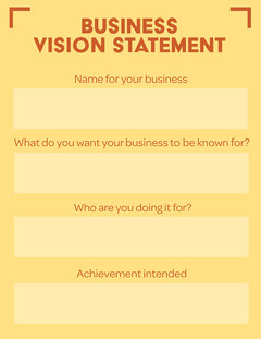 Business Vision Statement Business