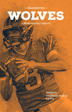 Orange and White Football Tryout Ad Instagram Story Football