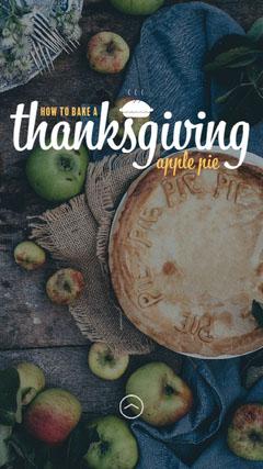 Thanksgiving Apple Pie IG Story Thanksgiving