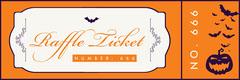 Regal Halloween Party Raffle Ticket Halloween Raffle Ticket