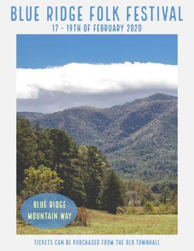 blue ridge folk festival Veranstaltungs-Flyer