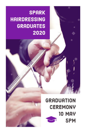 Violet and White Graduation Ceremony Poster Graduation Card