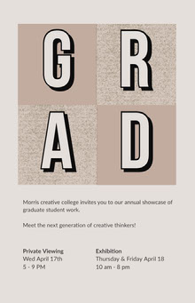 Grey and Brown Showcase Poster School Posters