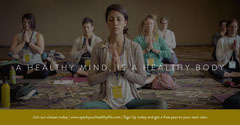 Dark Toned Meditation Class Facebook Banner Healthy