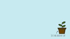 Blue Background Sapling Illustration Zoom Background Blue
