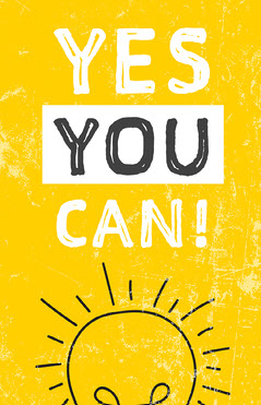 Yellow and White Sun Motivational Phrase Poster Positive Thought