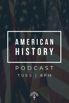 Grey and White American History Podcast History