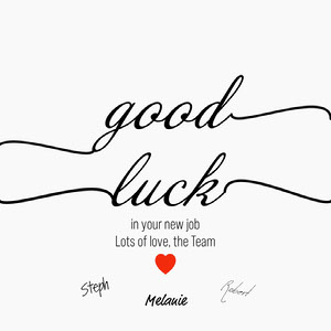 Black White Red Good Luck Group Card Instagram Square  Congratulations Messages