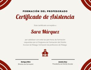 Certificado de Asistencia  Certificado