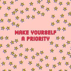 Pink and Yellow Stars Sentence Instagram Graphic Stars
