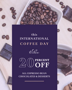 Purple and Light Toned Coffee Day Sale Instagram Portrait Coffee