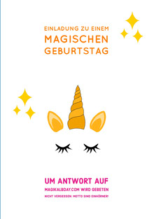 you're invited to a magical unicorn birthday cards Geburtstagskarte