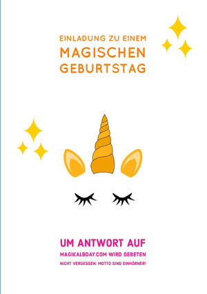 you're invited to a magical unicorn birthday cards Geburtstagskarte mit Einhörnern