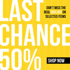 Sale Last Chance Instagram Square Shopping